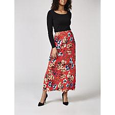 Kim & Co Brazil Knit Printed Maxi Skirt