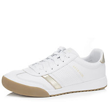 Skechers Zinger Metallic Trim Leather Retro Trainer