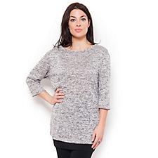 Kim & Co Soft Lustre Knit Dolman Sleeve Tunic