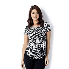 Antthony Designs Print Top with Back Pleat