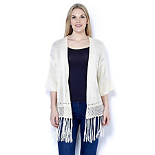 Fashion by Together Stud and Fringe Detail Cardigan