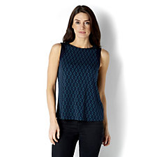 Printed Liquid Knit Sleeveless Top by Susan Graver