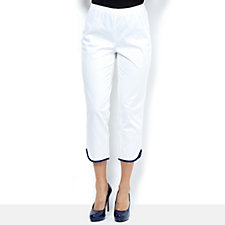C. Wonder Slim Leg Hem Binding Detail Trousers
