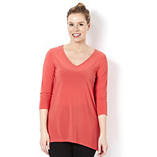Outlet Attitudes by Renee 3/4 Sleeve Jersey Tunic