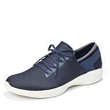 Skechers YOU Inspire Gore Slip On Shoe with Lace Detail