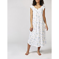 Carole Hochman Printed Flutter Long Nightgown