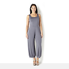 Yong Kim Modal Sleeveless Jump Suit with Cuff Trousers