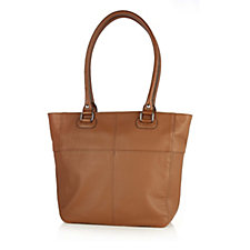 Tignanello Perfect Pockets Pebble Leather Medium Tote Bag