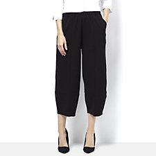 Yong Kim Crepe Jersey Cropped Trouser
