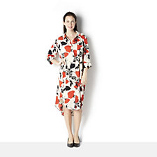 Ronen Chen Memphis Floral Print Shirt Dress