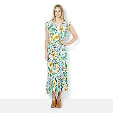 C. Wonder Ruffle Detail Petite Maxi Dress