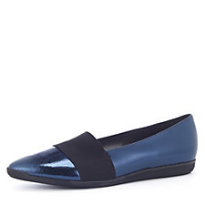 Peter Kaiser Mineretta Metallic Flat Slip On Shoe