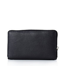 Amanda Lamb Leather Tassel Zip Wallet