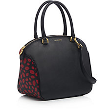 Lulu Guinness Bella Medium Lip Print Leather Shoulder Bag