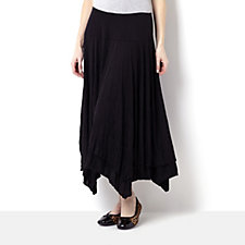 Yong Kim Crinkle Knit Double Layer Skirt