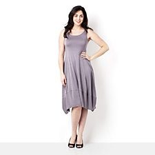102267 - Yong Kim Modal Sleeveless Dress with Panelled Hem
