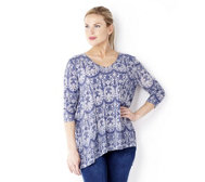 Fashion by Together Tunic with Burn Out Detail