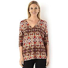 Ronen Chen Aztec Print Jersey Tunic