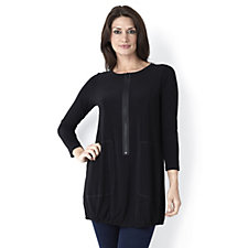 Yong Kim Long Sleeve Tunic with Zip & Pockets