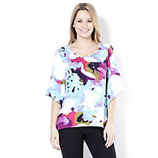 Nick Verreos Printed Angel Sleeve Top