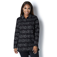 Boucle Dip Back Shirt by Michele Hope