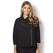 Yong Kim Crepe Jersey Jacket with Zip Detail