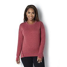 Cuddl Duds Comfortwear Drop Shoulder Zip Sweatshirt