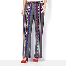 Attitudes By Renee Printed Wide Leg Trouser