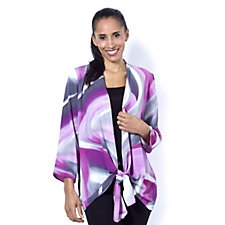 Mr Max Georgette Tie Front Cardigan