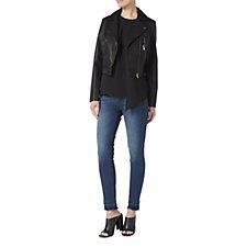Label Lab Faux Leather Cropped Biker Jacket