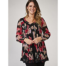Together Butterfly Print Georgette Tunic & Cami Set