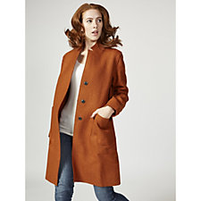 Centigrade Double Faced Long Line Coat with Rever Collar