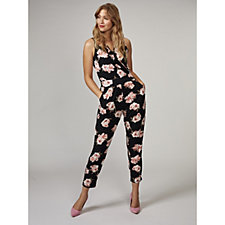 Kim & Co Soft Roses Brazil Knit Sleeveless Frilled Jumpsuit