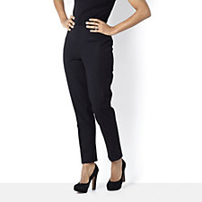 Isaac Mizrahi Live Bi Stretch Ankle Length Pull On Trousers
