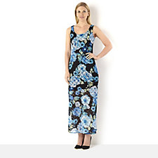 Tiana B Sleeveless Floral Printed Lace Maxi Dress