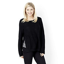 H by Halston Knit Jumper with Contrast Lace Sides