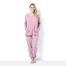 Carole Hochman French Terry Printed Trouser PJ Set