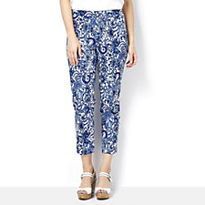 Isaac Mizrahi Live 24/7 Stretch Ankle Length Trousers, Petite