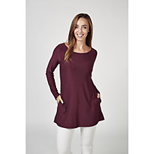 Attitudes by Renee Long Sleeve Scoop Neck Tunic