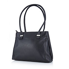 Amanda Lamb Large Saffiano Leather Double Compartment Shopper Bag