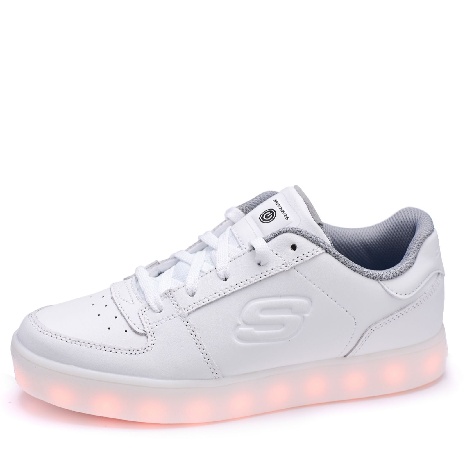 Skechers Kid\u0027s Energy Lights Elate Lace Up Trainer with Hidden Lights -  167668