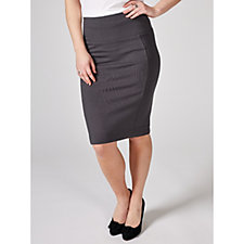 MarlaWynne Ponte Solution Pencil Skirt