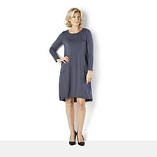 Yong Kim Modal Jersey Pocket Detail Long Tunic