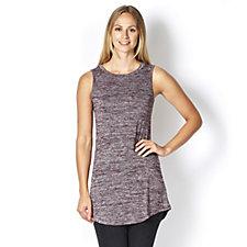 Logo Layers Sweater Knit Shirt Tail Round Neck Vest