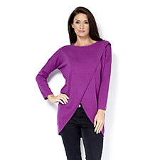 Marble Longline Jumper with Crossover Front