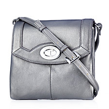 Tignanello Function Forever Pebble Leather Crossbody Bag with RFID Protection