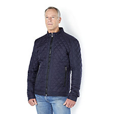 Rino & Pelle Men's Quilted Jacket with Zip Fastening Pockets