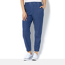 H by Halston Tencel Casual Trousers with Elasticated Waist & Cuffs