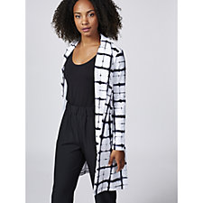 Christopher Fink Grid Print Long Sleeve Duster