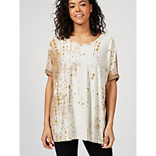 MarlaWynne Printed Jersey Boxy Top